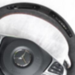 Custom LED/LCD Alcantara Steering Wheel