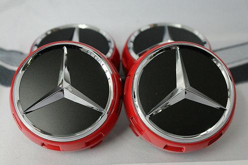 Mercedes Edition 1 Centre Caps 75mm