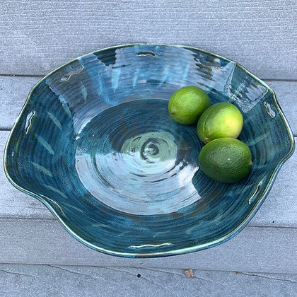 Bowl -L-Emerald Rose