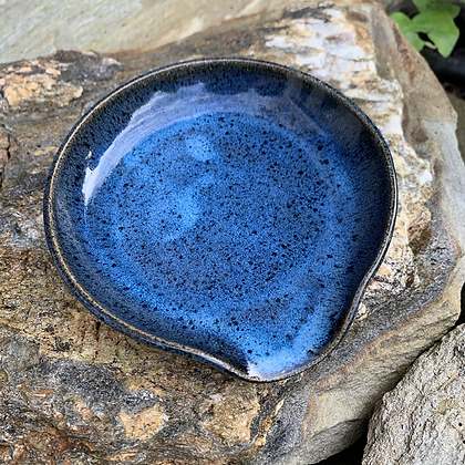 Spoon rest - Blue Speckles