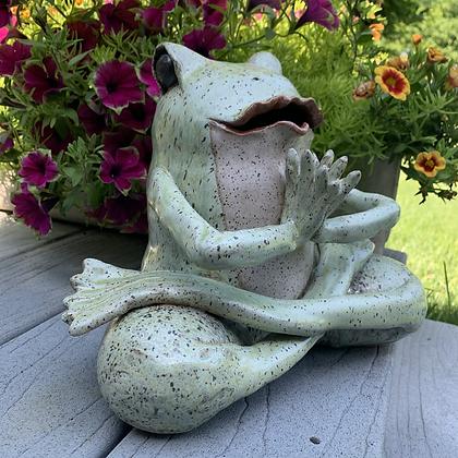 Yoga Frog -Lotus Green