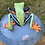 Thumbnail: Lidded Pot Blue with Tree Frog