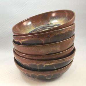 Brown Swirl Stew Bowl Set