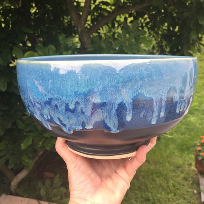XL Bowl footed blue