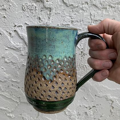 Mug- Turquoise Texture