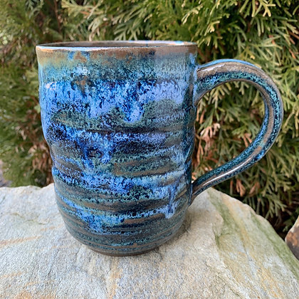 Mug XL Blue/Green Swirls