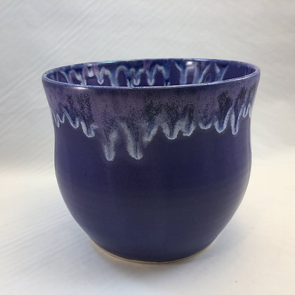 Flower Pot (XL) - Popping purple/blue