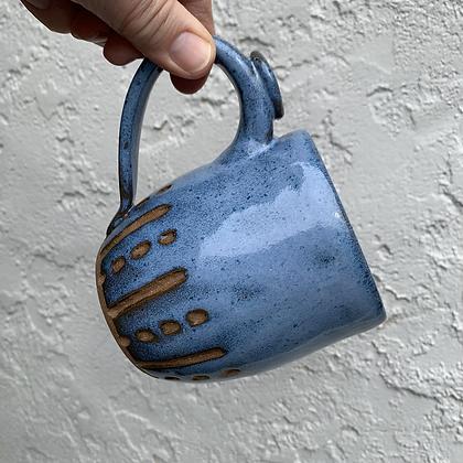Mug - Blue Dots and Dashes