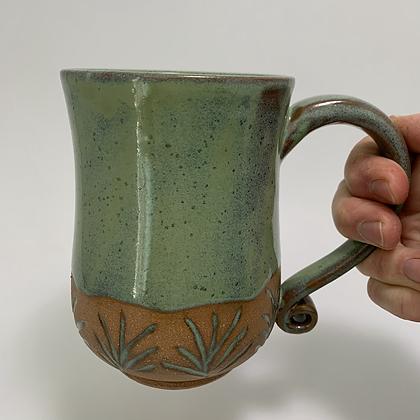 Mug- Curvy Green
