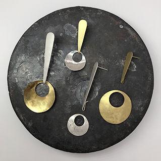 Orecchini componibili di metallo