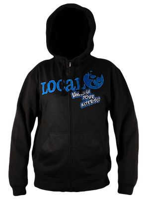Local Unleashed Blue Hoodie