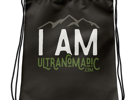 I Am Ultranomadic Drawstring bag