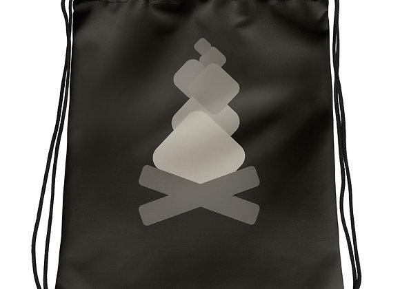 "Campfire ""Loading"" Symbol Drawstring bag"