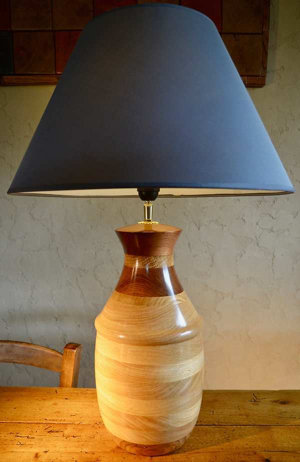 Tournage pied de lampe