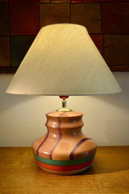 Pied de lampe en sapelli et valchromat
