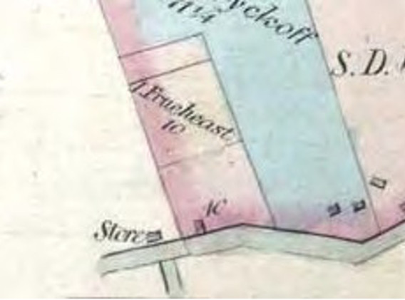 Detail from the 1860 Farm Map of Hillsboro', Somerset Co NJ.