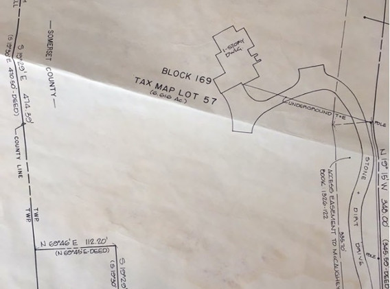 """Extract from the Hillsborough Township Tax Map showing Lot 57 A, AKA """"CHURCH LOT"""