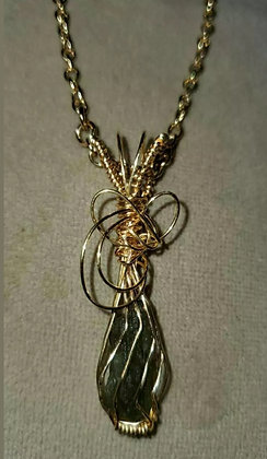 Sapphire Wire Wrapped Necklace