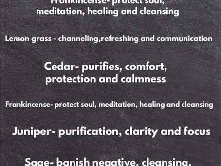Smudging and Cleansing