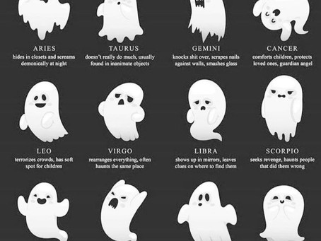 Zodiac signs as ghosts
