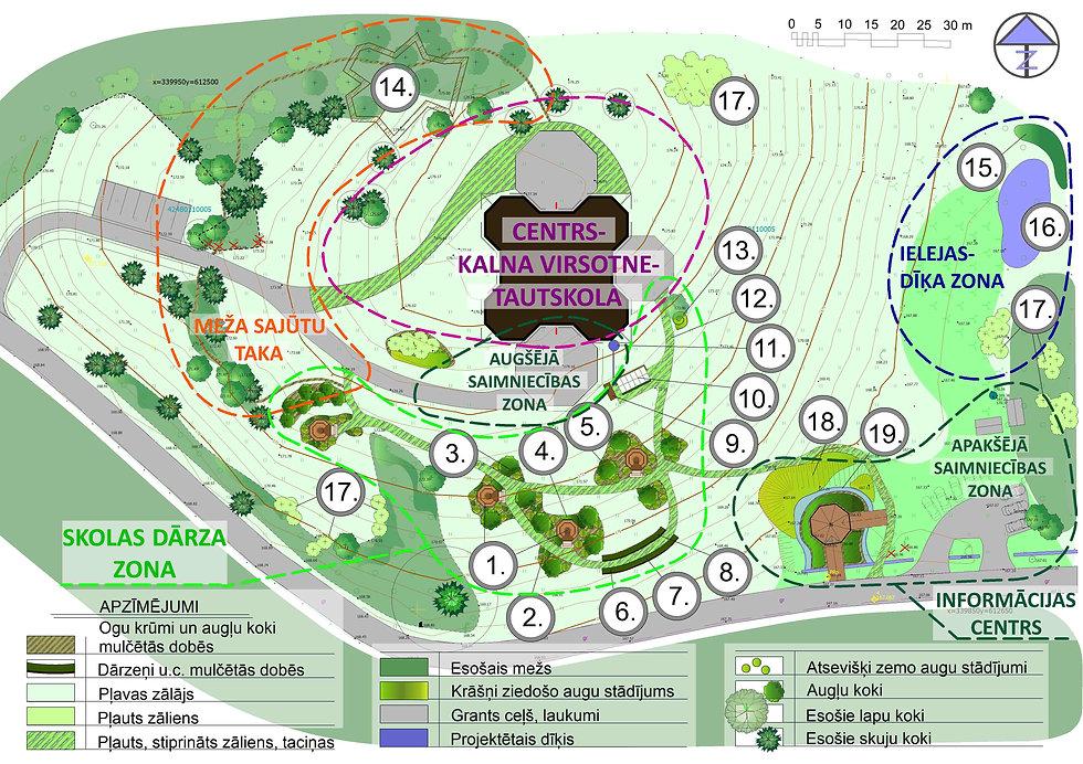 School garden plan for Drusti folk-school
