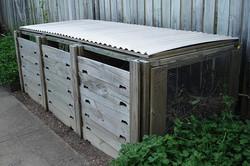 3-daļīga komposta kaste