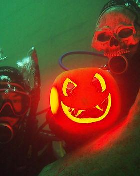 Pumpkin Halloween Skeleton Scuba.JPG
