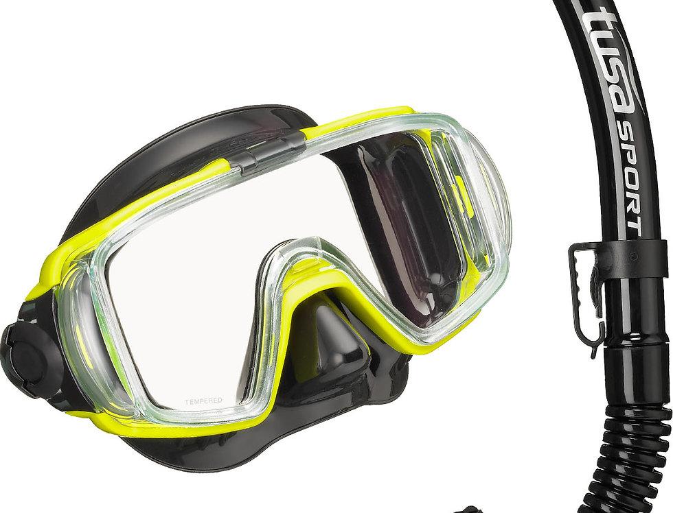 TUSA Visio Tri Ex (Black Series) Mask & Snorkel Set - Adult