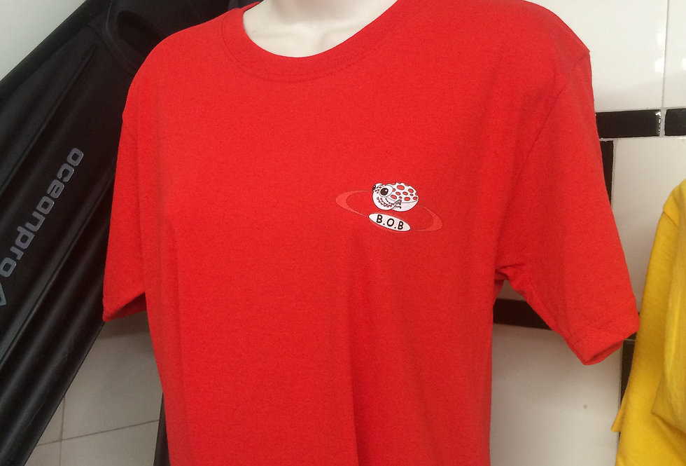 Beyond One Bar Tee Shirt in Red