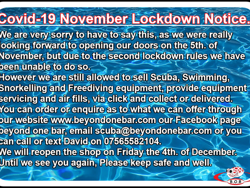 We will re-open Friday the 4th. of December.