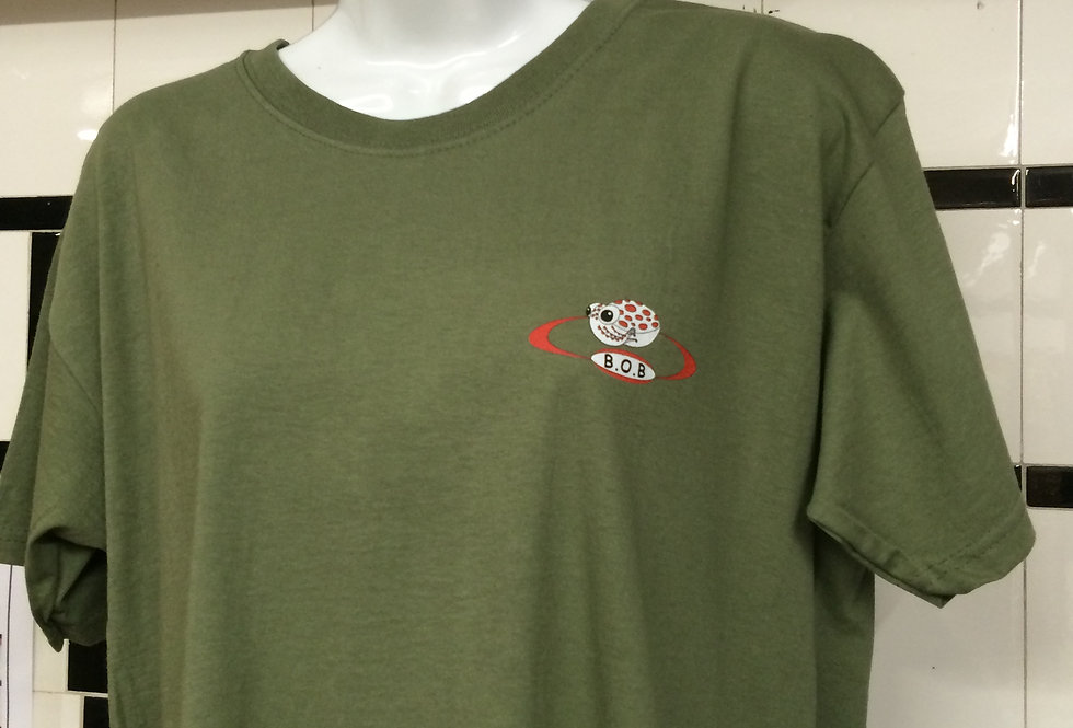 Beyond One Bar Tee Shirt in Olive