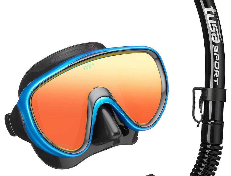TUSA Serene BlackSeries, Mirrored Mask & Snorkel Set - Adult
