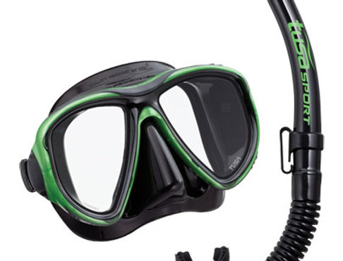 TUSA Powerview Dry Combo Mask & Snorkel Set - Adult