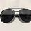 Thumbnail: Óculos de sol modelo Aviador grafite c/ preto