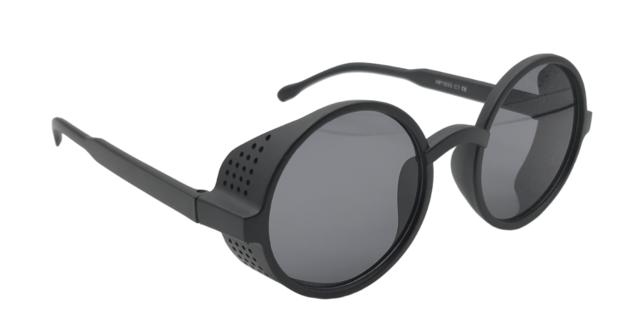 Óculos de sol preto com preto brilhante