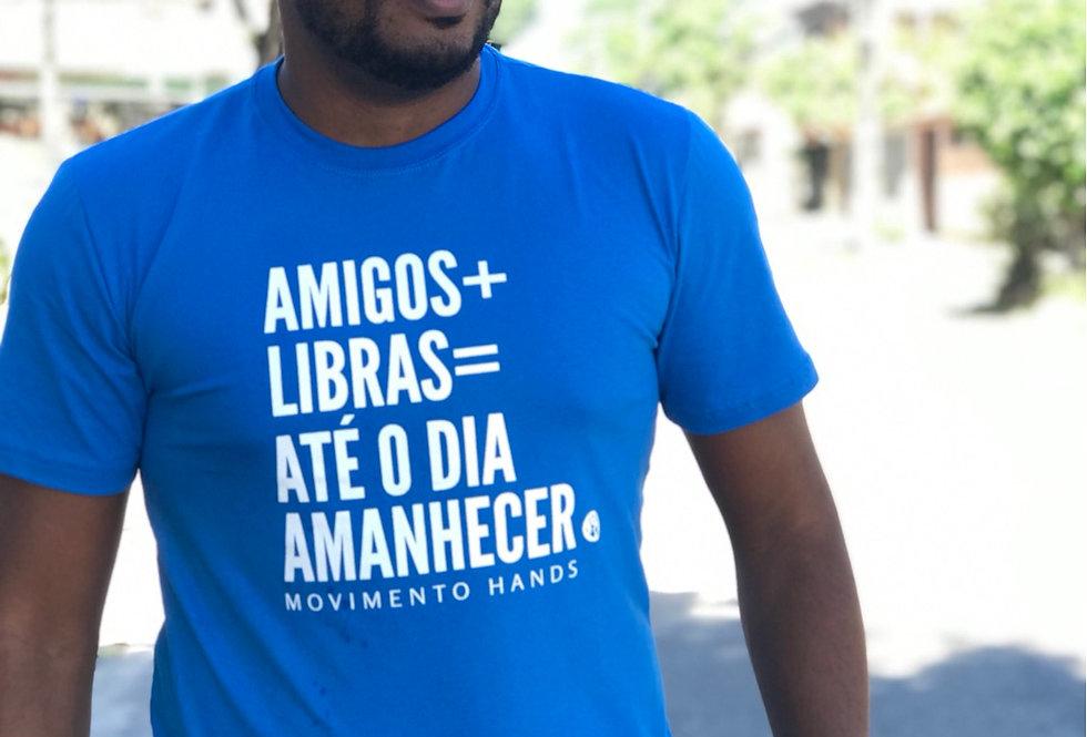 Camiseta Amigos+Libras Básica