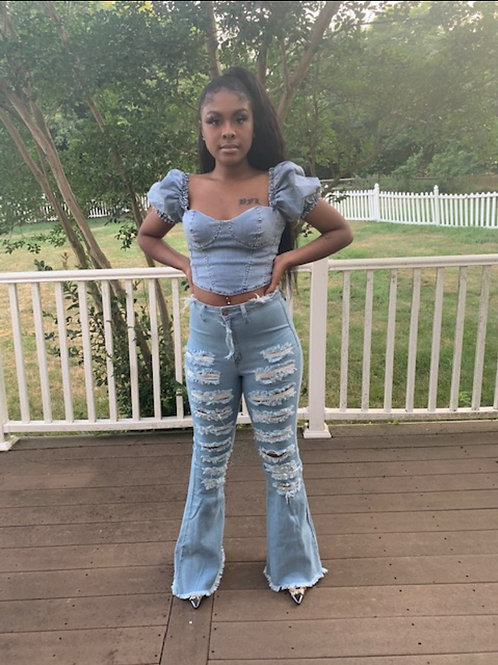 All about Denim flares