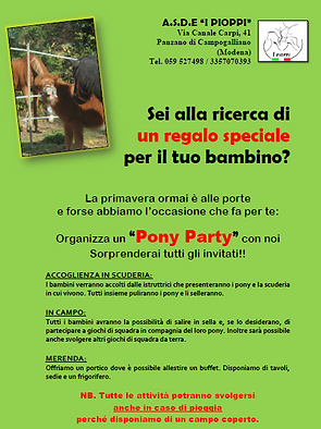 Pony Party I Pioppi Modena