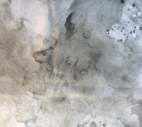 watercolor gray face mask