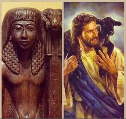 Egypte_Jésus_et_l'agneau_et_son_original