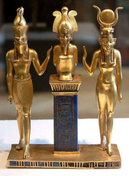 Egypte_Horus_Osiris_Isis Hathor