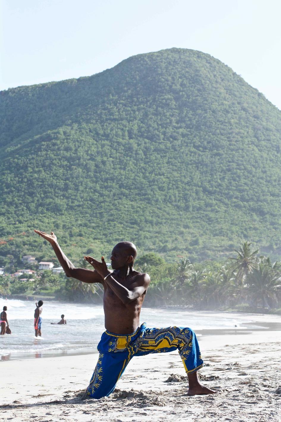 Pratique sur la plage Martinique 2
