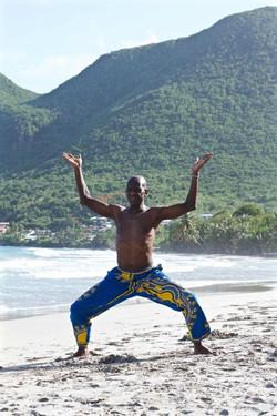 Pratique sur la plage Martinique 3