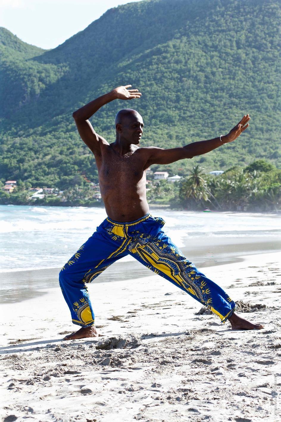 Pratique sur la plage Martinique 1