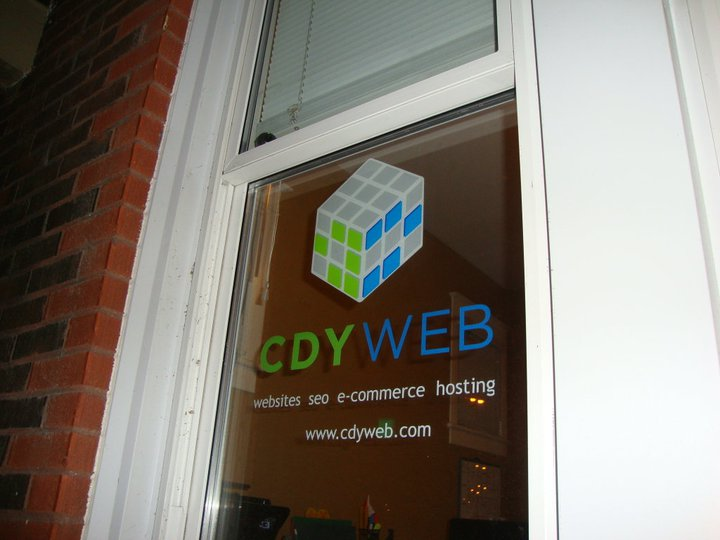 CDY Web window decal