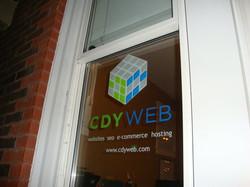 CDY Web window decal