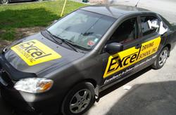 excel driving school car