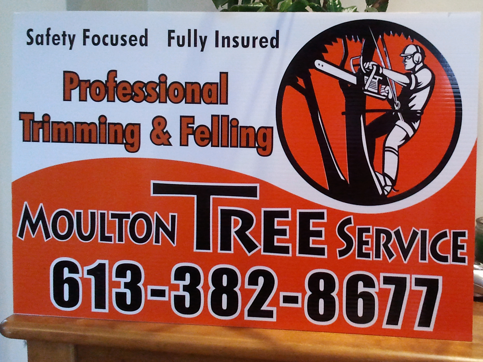 Moulton Tree Service tree signs