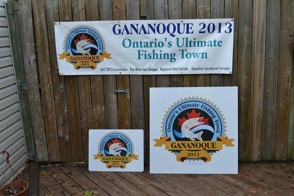 Gananoque fishing town signage