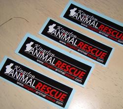 Kingston Animal rescue sticker